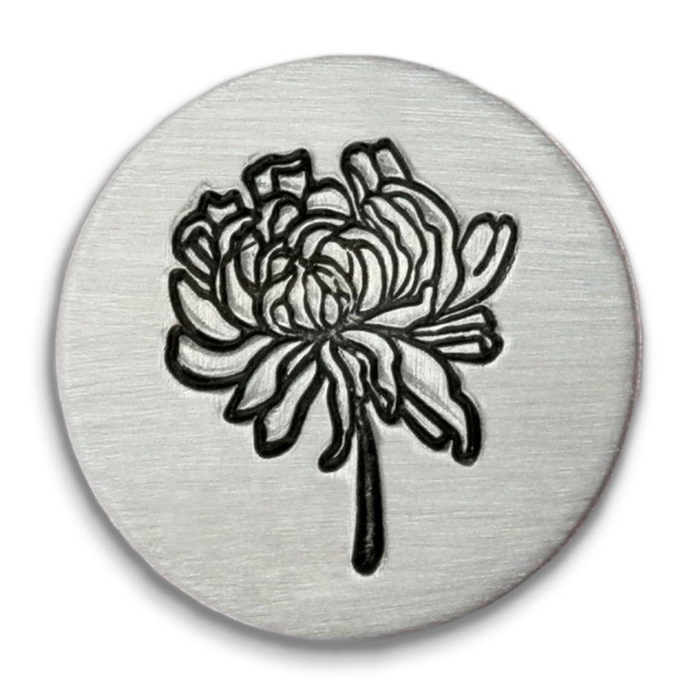 Chrysanthemum Ultra Detail Stamp - Impressart - 12mm