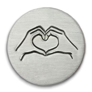 Heart Hands Ultra Detail Stamp - Impressart - 12mm