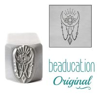 DSS1108 Lotus Moon with Strands of Beads Metal Design Stamp, 14.5mm Beaducation Original