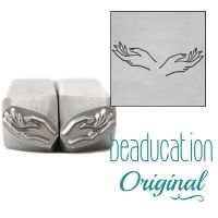 DSS1106 Hands, Set of Left and Right Metal Design Stamps, 11mm - Beaducation Original