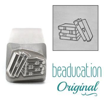 DSS1110 Stack of Books Metal Design Stamp, 11mm - Beaducation Original