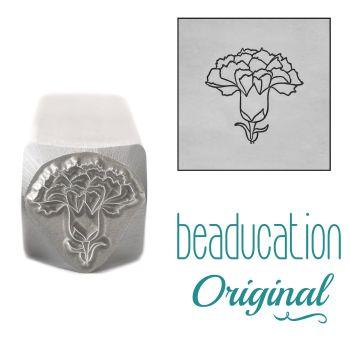 DSS1092 Carnation Metal Design Stamp, January Birth Month Flower, 10.5mm - Beaducation Original