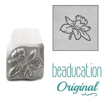 DSS1094 Daffodil Metal Design Stamp, March Birth Month Flower, 11mm - Beaducation Original