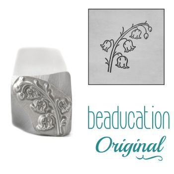 DSS1096 Lily of the Valley Metal Design Stamp, May Birth Month Flower, 11.2mm - Beaducation Original