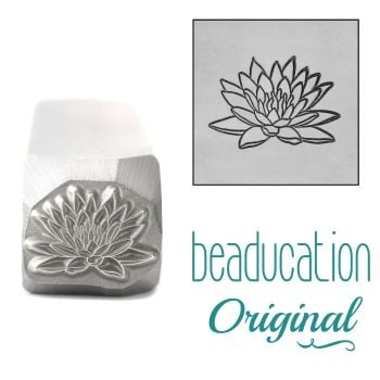 DSS1098 Water Lily Metal Design Stamp, July Birth Month Flower, 11mm - Beaducation Original