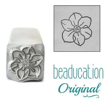 DSS1102 Narcissus Metal Design Stamp, December Birth Month Flower, 11mm - Beaducation Original