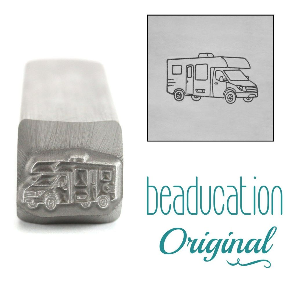 DSS1111 Motorhome RV Facing Right Metal Design Stamp, 11mm - Beaducation Or