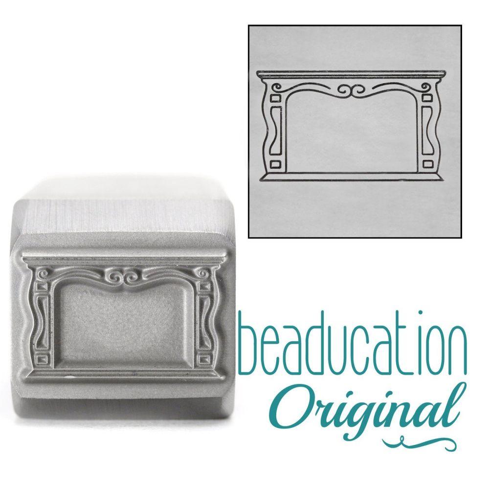 DSS1001 Fireplace Metal Design Stamp, 17mm - Beaducation Original
