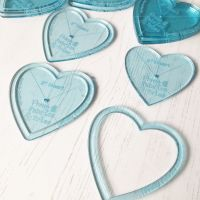'Perfect Pairs' Heart Applique Acrylic Template