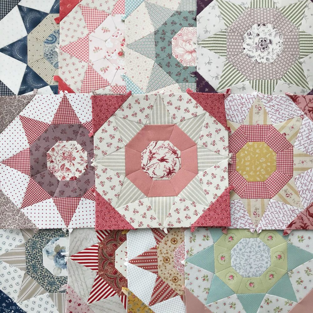 English Paper Pieced Queens Walk Quilt Complete Paper Piece Kit
