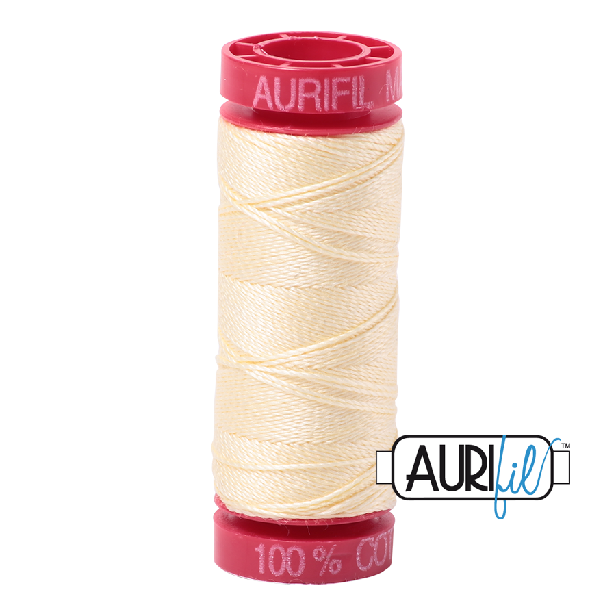 Aurifil ~ 12wt Thread ~ 2110 ~ Light Lemon