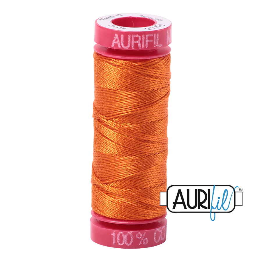 Aurifil ~ 12wt Thread ~ 2150 ~ Pumpkin