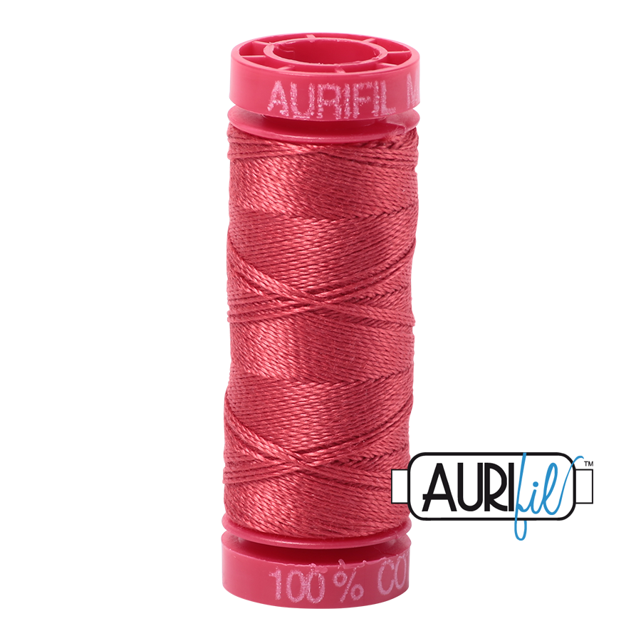 Aurifil ~ 12wt Thread ~ 2230 ~ Red Peony