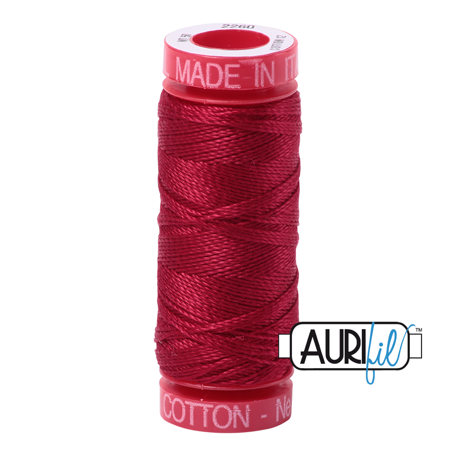 Aurifil ~ 12wt Thread ~ 2260 ~ Red Wine