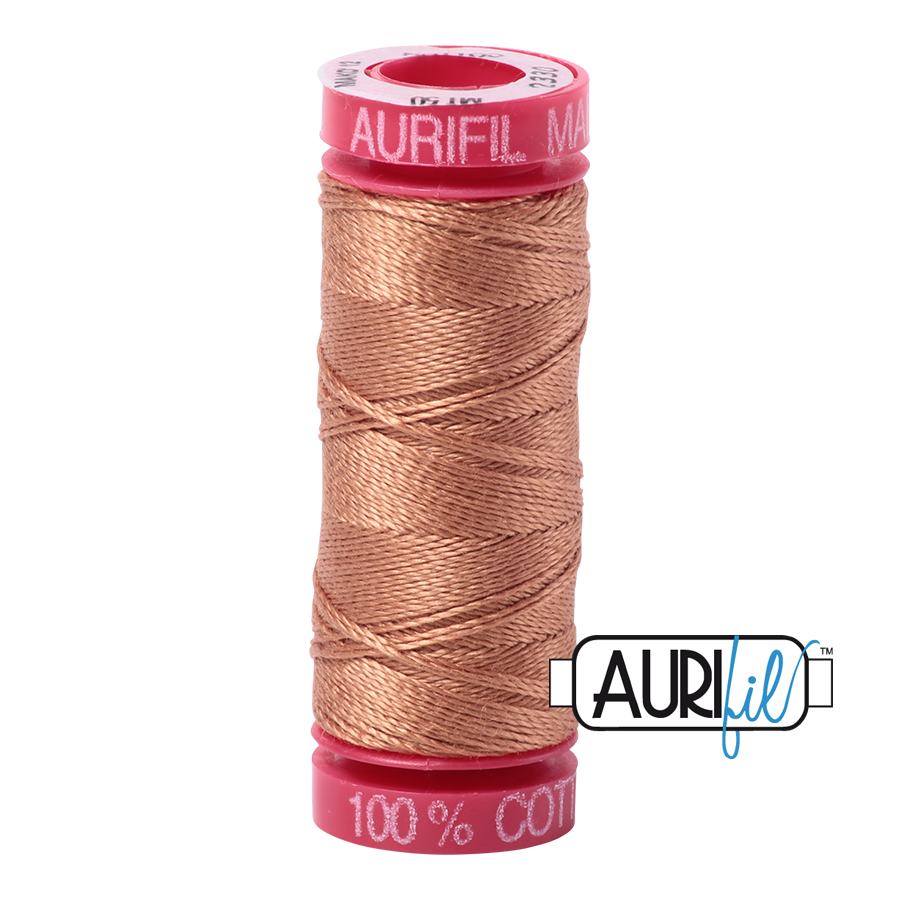 Aurifil ~ 12wt Thread ~ 2330 ~ Light Chestnut