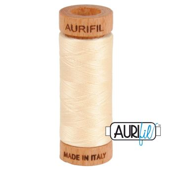 Aurifil ~ 80 wt Cotton ~ 2123 ~ Butter