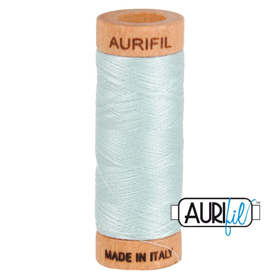 Aurifil ~ 80 wt Cotton ~ 5007 ~ Light Grey / Blue