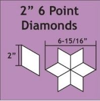 """English Paper Pieces Pre-cut Papers ~ 6 Point Diamond 2"""""""