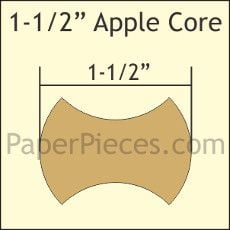 English Paper Pieces Pre-cut Papers ~ Apple Cores 1 1/2""