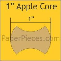 English Paper Pieces Pre-cut Papers ~ Apple Cores 1""