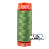 Aurifil ~ 50 wt Cotton ~ 1114 ~ Grass Green Small Spool