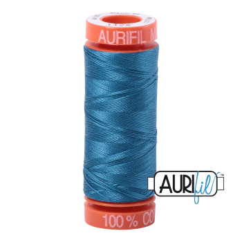 Aurifil ~ 50 wt Cotton ~ 1125 ~ Medium Teal Small Spool