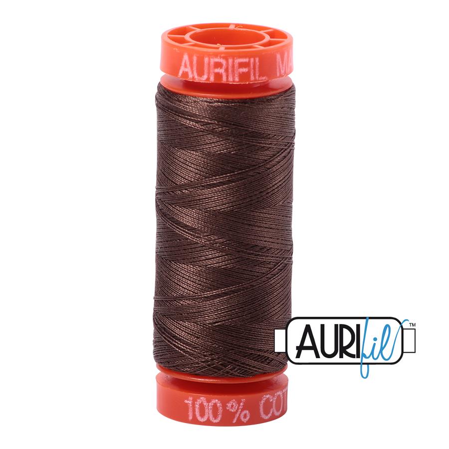 Aurifil ~ 50 wt Cotton ~ 1140 ~ Bark Small Spool