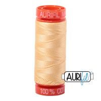 Aurifil ~ 50 wt Cotton ~ 2130 ~ Medium Butter Small Spool