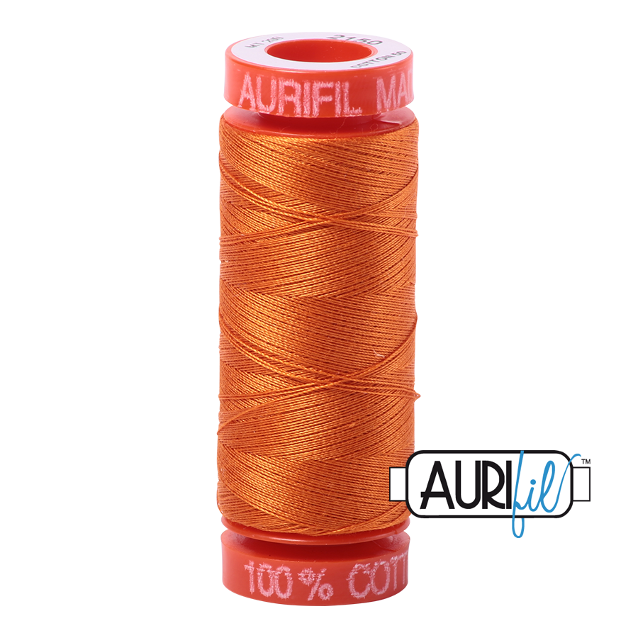 Aurifil ~ 50 wt Cotton ~ 2150 ~ Pumpkin Small Spool