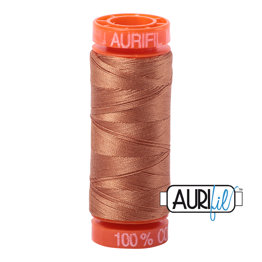 Aurifil ~ 50 wt Cotton ~ 2330 ~ Light Chestnut Small Spool