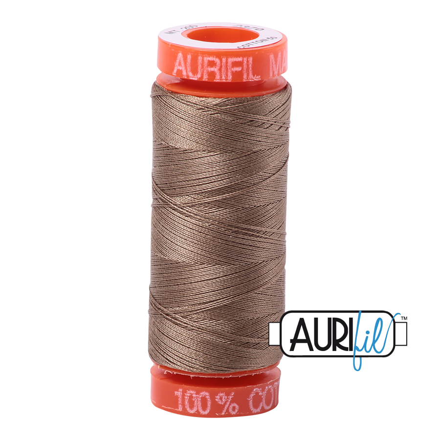 Aurifil ~ 50 wt Cotton ~ 2370 ~ Sandstone Small Spool