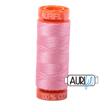 Aurifil ~ 50 wt Cotton ~ 2425 ~ Bright Pink Small Spool