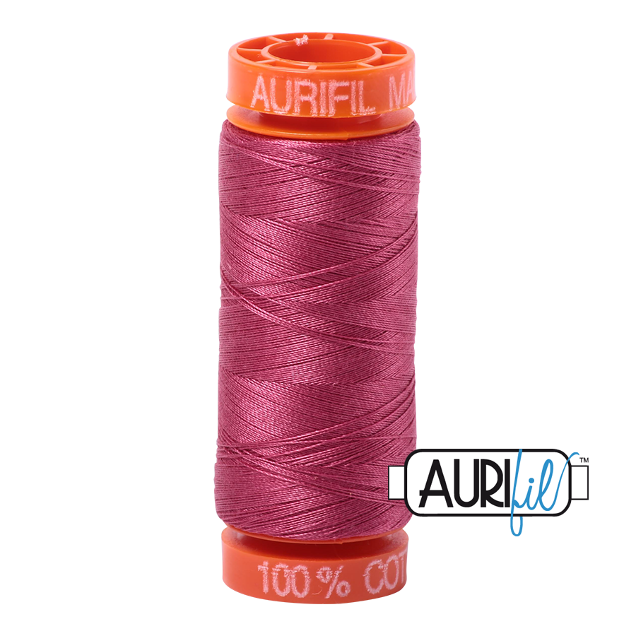 Aurifil ~ 50 wt Cotton ~ 2455 ~ Medium Carmine Red Small Spool