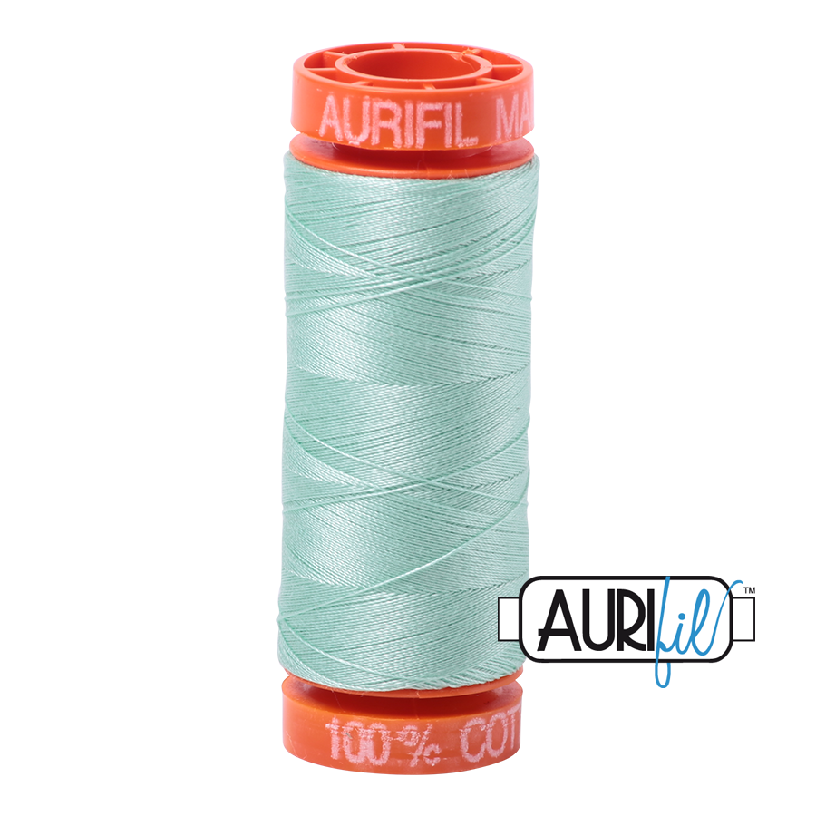 Aurifil ~ 50 wt Cotton ~ 2830 ~ Mint Small Spool