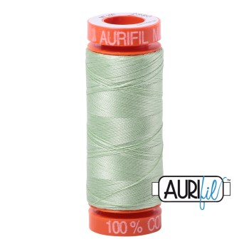 Aurifil ~ 50 wt Cotton ~ 2880 ~ Pale Green Small Spool