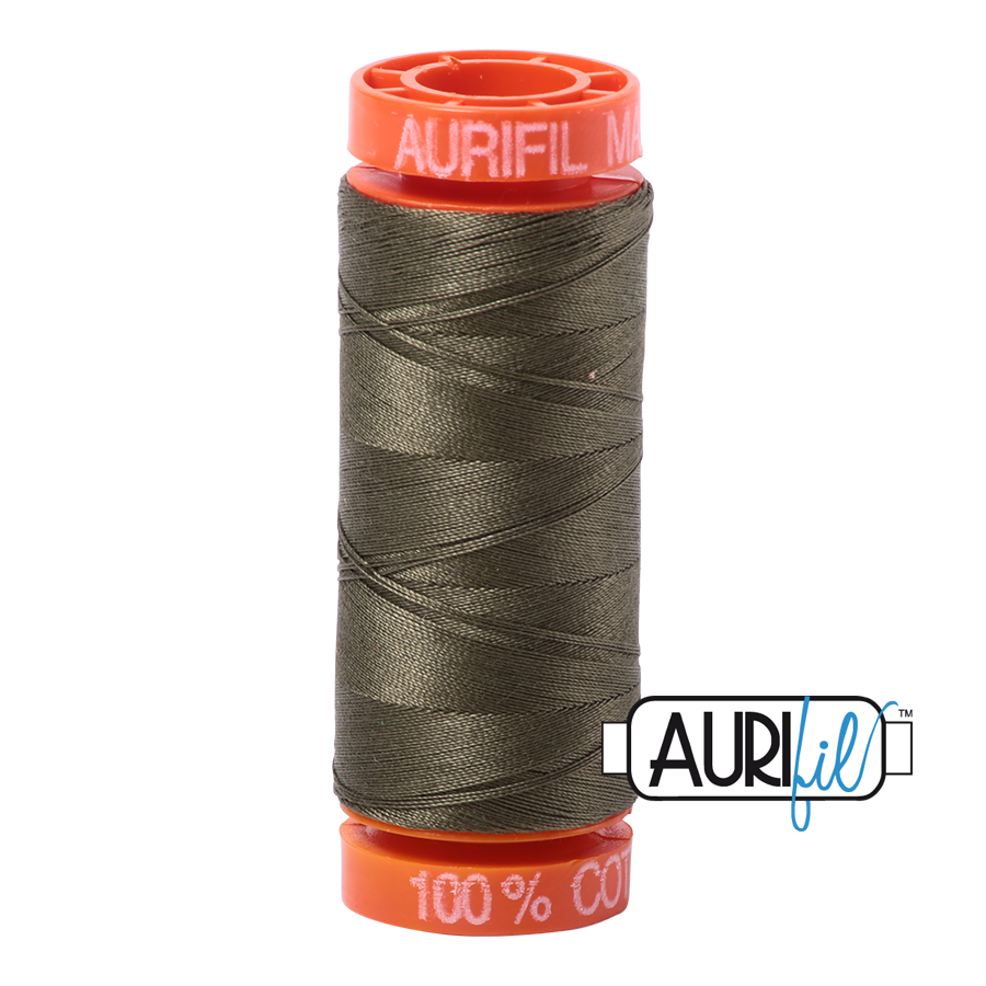 Aurifil ~ 50 wt Cotton ~ 2905 ~ Army Green Small Spool