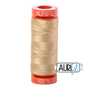 Aurifil ~ 50 wt Cotton ~ 2915 ~ Very Light Brass Small Spool
