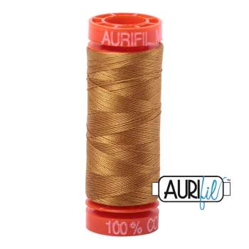 Aurifil ~ 50 wt Cotton ~ 2975 ~ Brass Small Spool