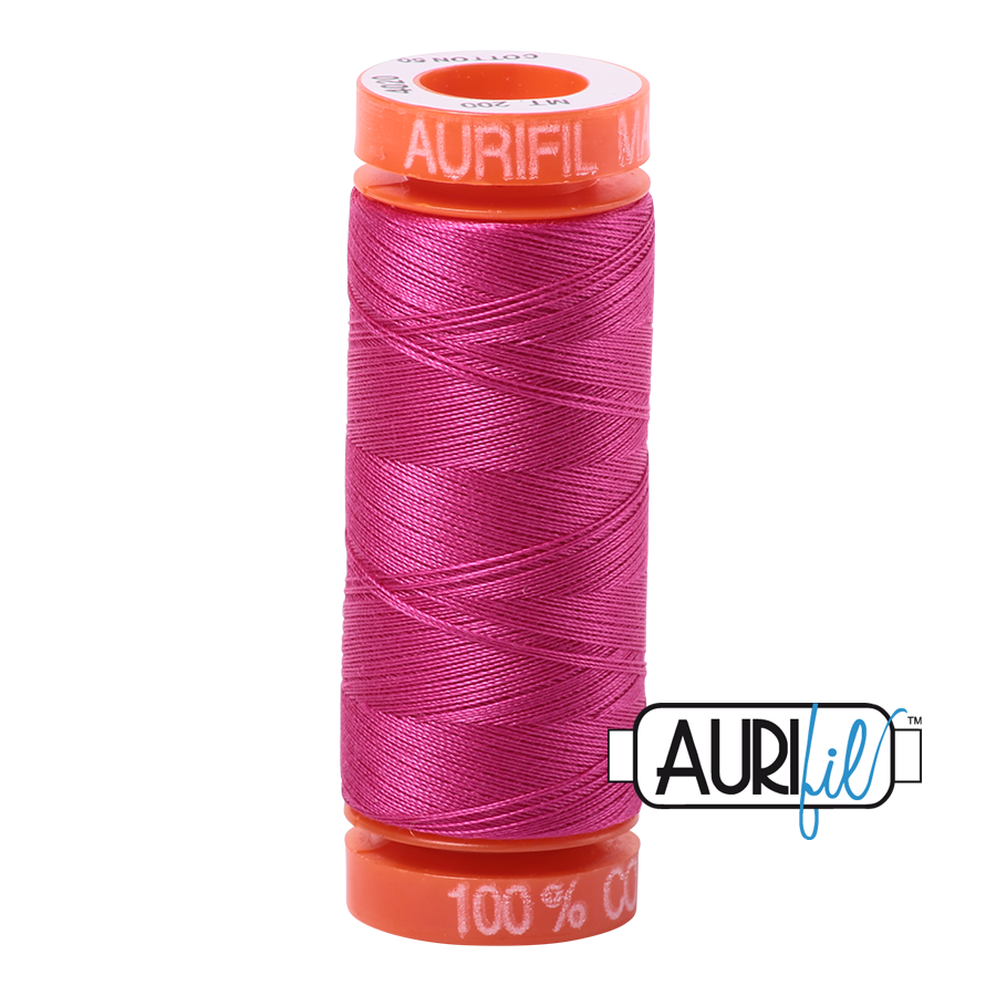 Aurifil ~ 50 wt Cotton ~ 4020 ~ Fuchsia Small Spool