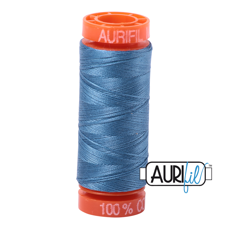 Aurifil ~ 50 wt Cotton ~ 4140 ~ Wedgewood Blue Small Spool