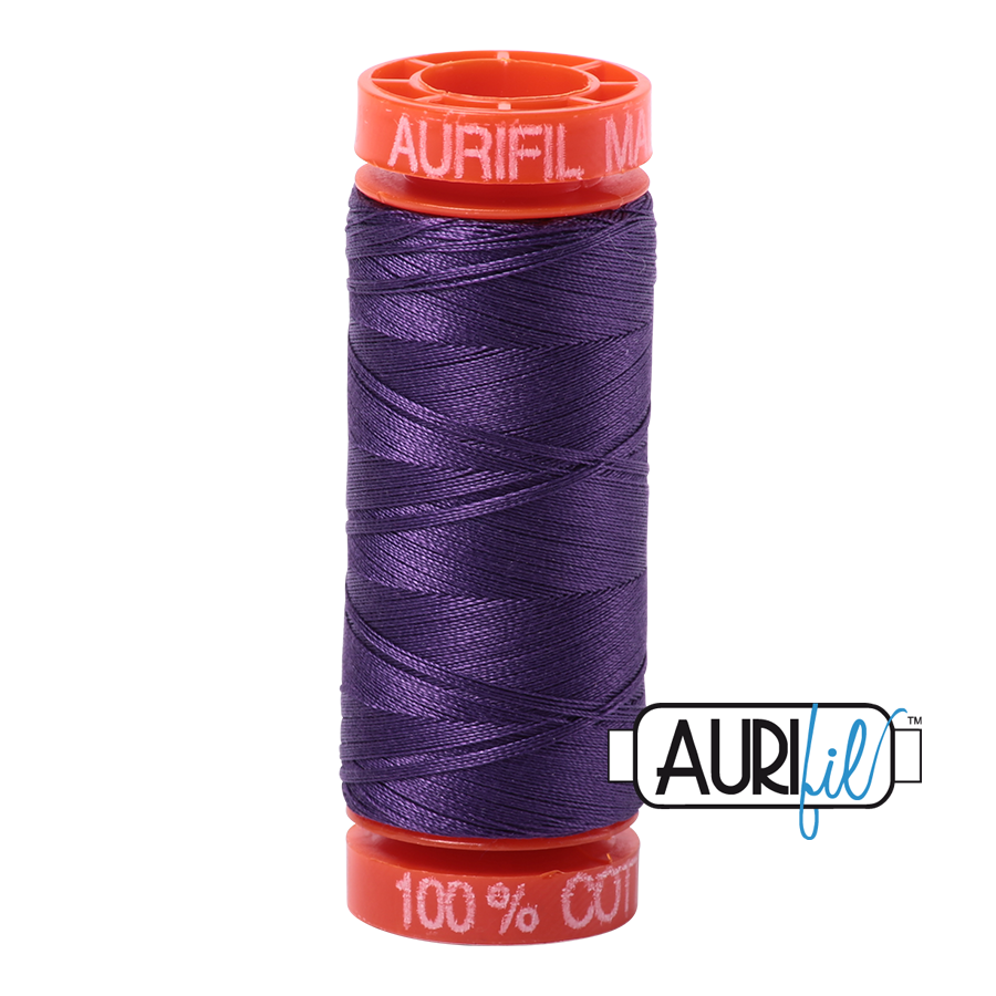 Aurifil ~ 50 wt Cotton ~ 4225 ~ Eggplant Small Spool
