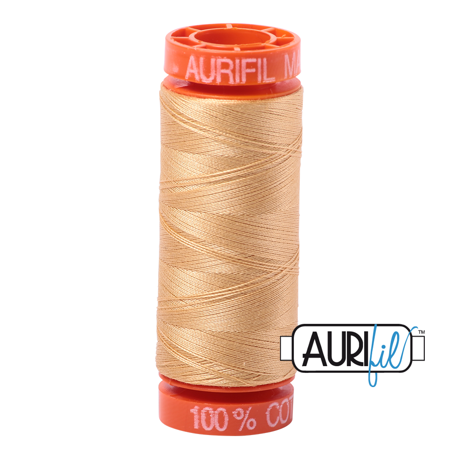 Aurifil ~ 50 wt Cotton ~ 5001 ~ Ochre Yellow Small Spool