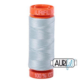 Aurifil ~ 50 wt Cotton ~ 5007 ~ Light Grey Blue Small Spool