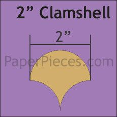 English Paper Pieces Pre-cut Papers ~ Clamshell 2