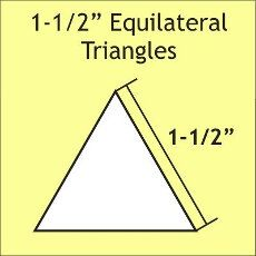 English Paper Pieces Pre-cut Papers ~ Equilateral Triangle 1 1/2