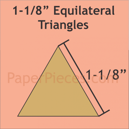 English Paper Pieces Pre-cut Papers ~ Equilateral Triangle 1 1/8