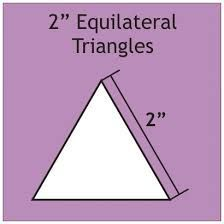 English Paper Pieces Pre-cut Papers ~ Equilateral Triangle 2