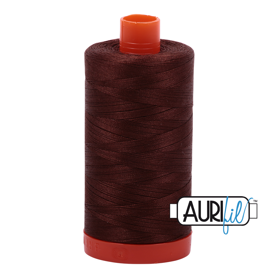 Aurifil ~ 50 wt Cotton ~ 2360 ~ Chocolate Large Spool