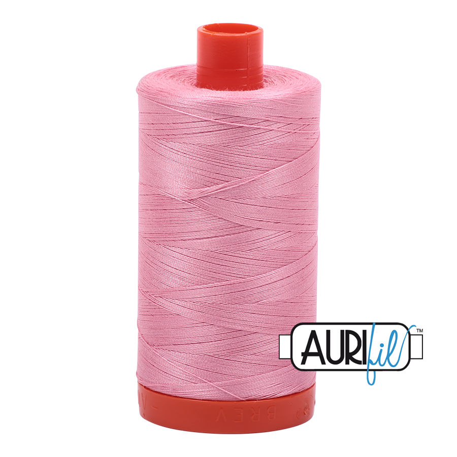 Aurifil ~ 50 wt Cotton ~ 2425 ~ Bright Pink Large Spool