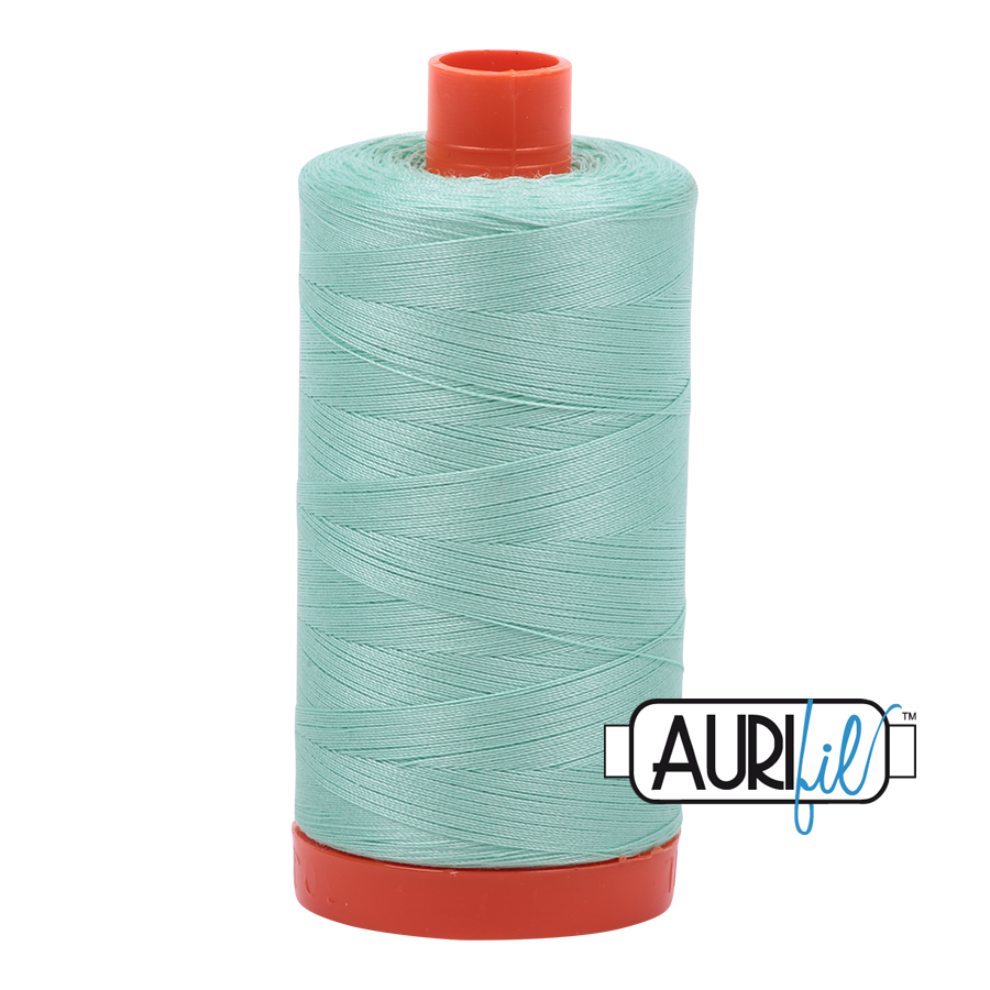 Aurifil ~ 50 wt Cotton ~ 2835 ~ Medium Mint Large Spool